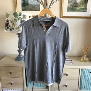 BANANA REPUBLIC Gray Silk Cashmere Blend Polo NWT